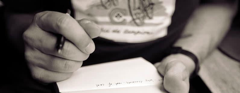 Como começar a escrever?