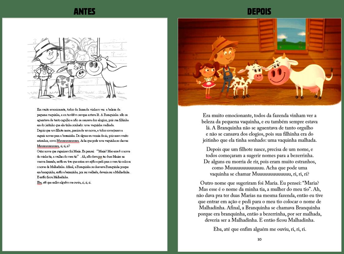 Diagramação de livros: antes e depois